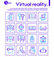 virtual and augmented reality color linear vector image vector image