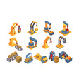 warehouse equipment set delivery and cargo vector image