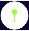 wine glass computer symbol vector image vector image