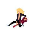 young rock musician with long hair playing on vector image vector image
