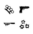 crime simple related icons vector image