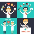 Doctors with medical icons posters vector image