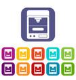3d printer icons set flat vector image