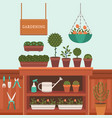 a greenhouse vector image vector image