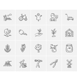 Agriculture sketch icon set vector image vector image