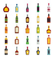 alcoholic drinks bottles large set vector image