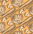 Baseball Bat Ball Glove vector image vector image