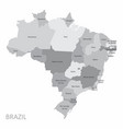 brazil states map vector image vector image