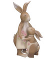 brown easter bunnies vector image vector image