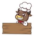 bull chef vector image vector image