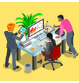 Business Indian 04 Isometric People vector image vector image