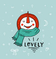 christmas snowman enjoying snow funny cartoon vector image