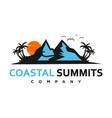 coastal summits logo vector image vector image