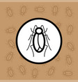 cockroach icon sign and symbol on brown background vector image vector image