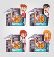 cryptoccurrency mining design vector image