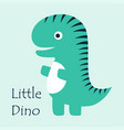cute little dino vector image vector image