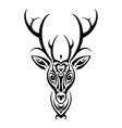 deer head polynesian tattoo style vector image vector image