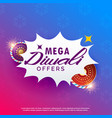 diwali sale background with crackers vibrant vector image vector image