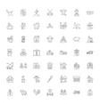 farm linear icons signs symbols line vector image vector image
