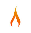 fire logo sign icon vector image vector image