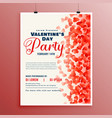 flyer design template for valentines day vector image vector image