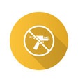 forbidden sign with piercing gun flat design long vector image vector image