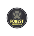 forest expedition logo flat style vector image vector image