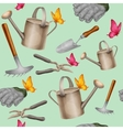 Garden tools seamless pattern vector image vector image