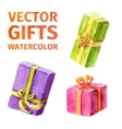 gifts watercolor vector image vector image