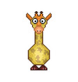giraffe pixel icon in the vector image