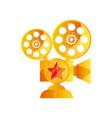 golden camera film award on a vector image