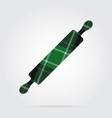 green black tartan isolated icon - rolling pin vector image vector image