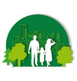 green city family flat vector image