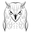 Hand drawn black white owl Tribal owl vector image vector image