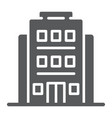 hotel glyph icon architecture and travel vector image vector image
