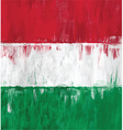 hungarian flag colors painting vector image vector image