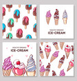 ice cream collection set ice cream vector image vector image