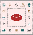 lips symbol icon elements for your design vector image
