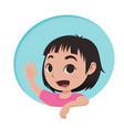 little girl cartoon character vector image vector image