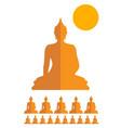 makha bucha day sing symbol vector image