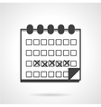 Menses calendar black icon vector image