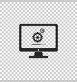 monitor update process with gearbox progress vector image vector image