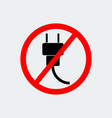 no plug icon vector image vector image