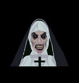 nun halloween costume design vector image