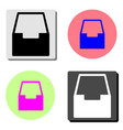 office box flat icon vector image vector image