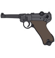 Old germany handgun vector image