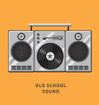 old school sound vector image