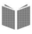 open book halftone icon vector image