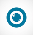 pearl ring bold blue border circle icon vector image vector image
