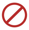 prohibited round sign vector image vector image
